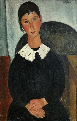 Amedeo Modigliani Elvire au col blanc