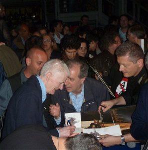 Peter Hammill, La Salumeria della Musica, Milano, signing