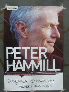 Peter Hammill, La Salumeria della Musica, Milano, poster