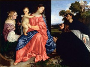 Tiziano, The Virgin and Child with Saints