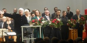 Helmuth Rilling, Julia Sophie Wagner, Ingeborg Danz, Lothar Odinius, Eszter Balogh, Michael Nagy, György Vashegyi with musicians of the Bach Ensemble Helmuth Rilling and of the Purcell Choir Budapest