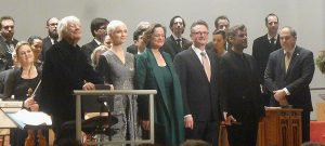 Helmuth Rilling, Julia Sophie Wagner, Ingeborg Danz, Lothar Odinius, Michael Nagy, György Vashegyi with musicians of the Bach Ensemble Helmuth Rilling and of the Purcell Choir Budapest