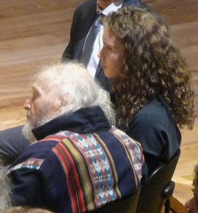 Ivry Gitlis and his grand-daughter