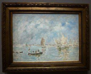Eugène Boudin - Barques et estacade