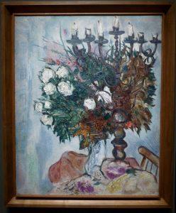 Marc Chagall - Le chandelier et les roses blanches
