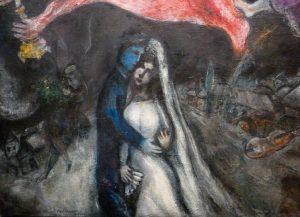Marc Chagall - Le cheval rouge (détail)