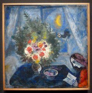 Marc Chagall - Femme au bouquet