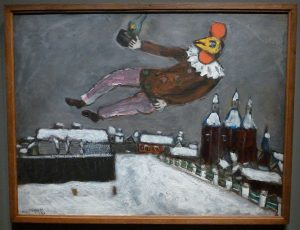 Marc Chagall - Homme-coq au-dessus de Vitebsk
