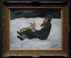 Marc Chagall - Le vieillard et le chevreau