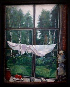 Marc Chagall - Vue de la fenêtre à Zaolchie