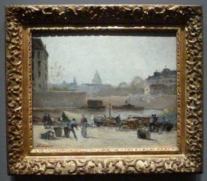 Stanislas Lépine - La Seine, avec vue du Panthéon