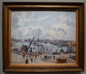 Camille Pissaro - L'anse des pilotes, Le Havre, matin, soleil, marée montante