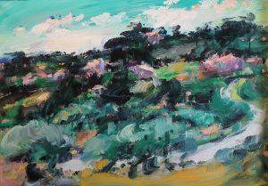 Paysage à Beaumes, vu de la route de Caromb