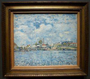 Alfred Sisley - La Seine au point du jour