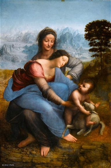 Léonard : Sainte Anne Louvre Paris